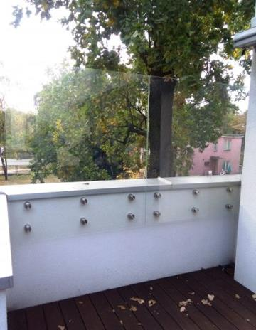 Balustrada jako osłona tarasu.