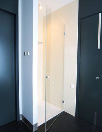 Eleganckie drzwi prysznicowe.